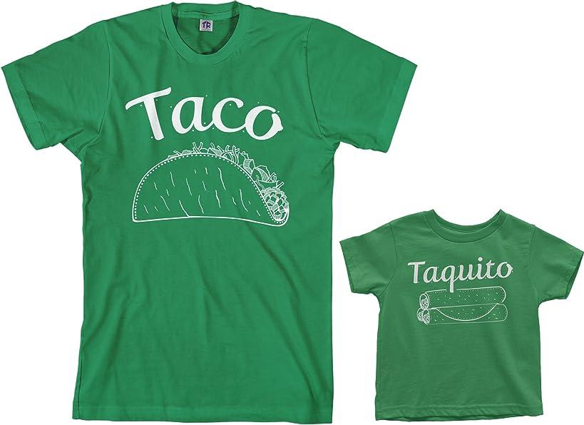 Threadrock Taco & Taquito Toddler & Men's T-Shirt Matching Set