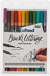 مجموعة أقلام تحديد حروف من 12 قطعة بألوان طبيعية من أوكيدا