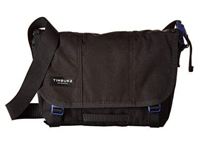Timbuk2 Flight Classic Messenger Extra Small (Jet Black/Blue Wish) Messenger Bags