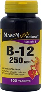 MASON NATURAL, Vitamin B-12 250mcg - 100 Tablets