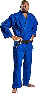 Ronin Judo Gi - Professional Made Martial Arts Uniform - Single Weave Blue Kimono - Perfect for Competition or Training