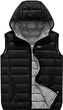 Wantdo Boy's Packable Hooded Puffer Down Vest Sleeveless Lightweight Jacket