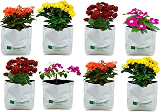 Cocogarden Medium Size Poly Growbags -Uv Stabilized -8 Qty [24Cms(L)X24Cms(W)X40Cms(H)],White