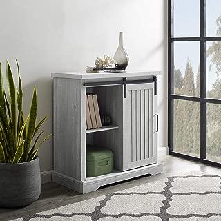 WE Furniture Modern Farmhouse Buffet Entryway Bar Cabinet Storage, 32 Inch, Grey