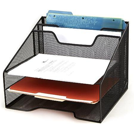 Mind Reader Mesh Organizer Storage, 5 Compartment, Black