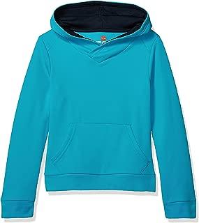 Hanes Girls' Big Tech Fleece Raglan Pullover Hoodie
