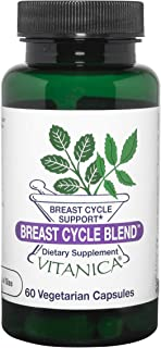 Vitanica Breast Cycle Blend, Breast Cycle Support, Iodine, Borage Seed Oil, Dandelion, Vegan/Vegetarian, 60 Capsules