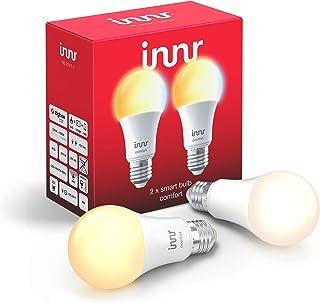 Innr E27 Smart LED-lamp, 2200K - 5000K, werkt met Philips Hue* & Alexa (bridge vereist) instelbaar wit licht, 2-Pack, RB 2...