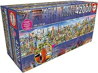 Educa XXL. Le Tour du Monde. Puzzle de 42.000 pièces. Inclut Un livret avec la liste des Monuments. Ref. 17570