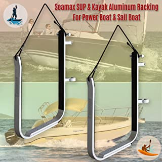 Seamax SUP and Kayak Storage Rack with Adjustable Fitting for Power Boat and Sail Boat