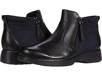 Munro Bonnie (Black Leather/Flannel) Women