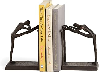 Danya B. ZI14076 Decorative Book Shelf Décor - Ballerina Stretch Metal Bookend Set