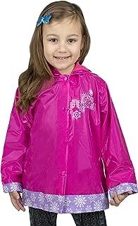 Frozen Little Girls' Anna and Elsa Waterproof Outwear Hooded Rain Coat - Toddler