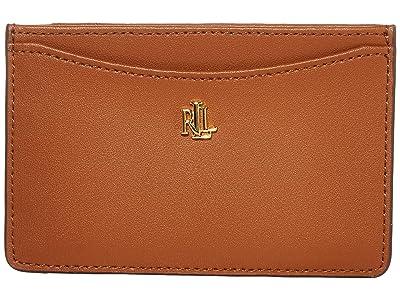LAUREN Ralph Lauren Slim Card Case (Lauren Tan) Wallet Handbags