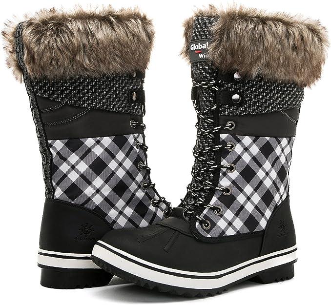 GLOBALWIN Trendy Women Winter Boots | Waterproof Best Ladies Winter Boots