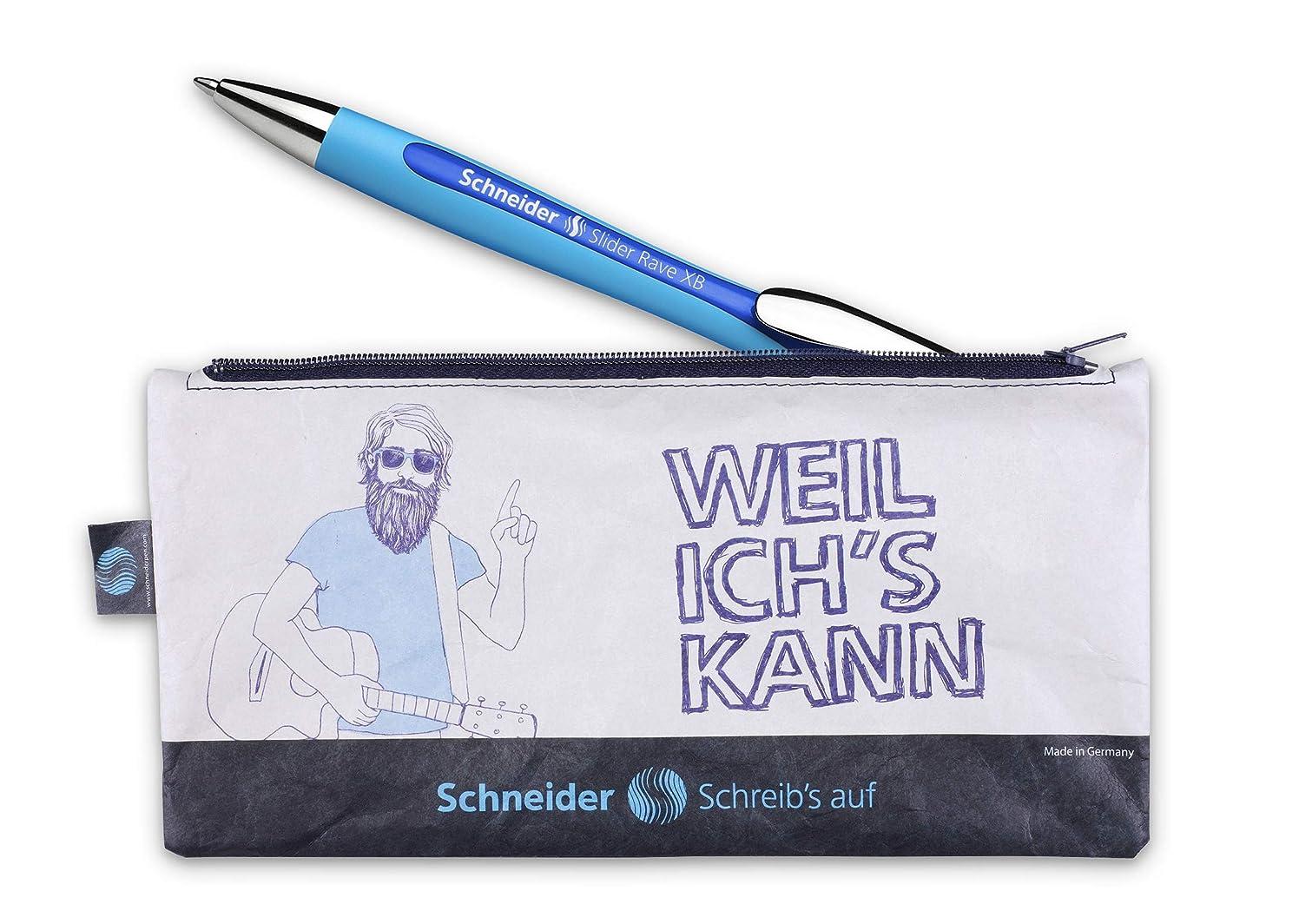 Schneider Slider Rave Pencil Case with Ballpoint Pen (Waterproof, Sustainable Pencil Case) 1 Set