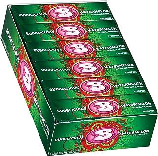 Bubblicious Watermelon Wave Bubble Gum 18 packs (5ct per pack)