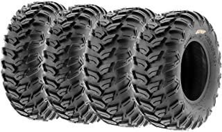 Set of 4 SunF A043 XC Racing ATV UTV Radial Sport Tires 26x9R12 Front & 26x11R12 Rear, 6PR, All-Terrain Off-Road & Track