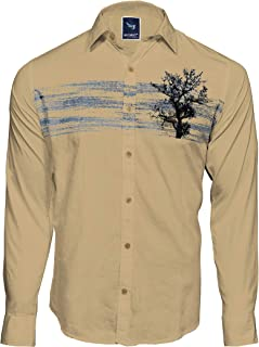 Men`S Designed Printed Casual Cotton KHAKHEE Shirts