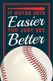 Damdekoli Baseball Quote Poster, 11x17 inches, Boys Room Wall Art, Ball Field, Batter Pitcher, Kids Decoration, Fan Print, Motivational