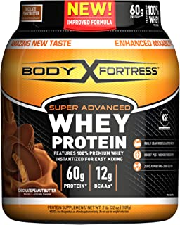 Body Fortress Super Advanced Whey Protein Powder, Gluten Free, Chocolate Peanut Butter, 2 Pound (Packaging May Vary)
