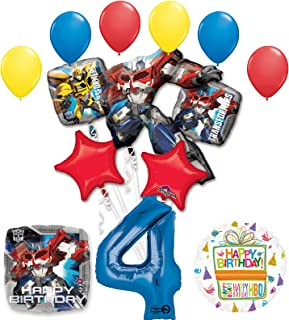 Mayflower Products The Ultimate Transformers 4th Birthday Party Supplies Balloon Decorations