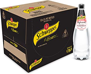 Schweppes Infused Natural Mineral Water with Grapefruit, 12 x 1.1L