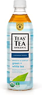 Teas' Tea Unsweetened Green White Tea 16.9 Ounce (Pack of 12) Organic Zero Calories No Sugars No Artificial Sweeteners Antioxidant Rich High in Vitamin C