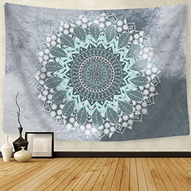 Likiyol Tapestry Mandala Hippie Bohemian Tapestries Wall Hanging Flower Psychedelic Tapestry Wall Hanging Indian Dorm Decor f