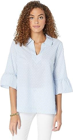 Blue Peri Tint Yarn-Dye Stripe/White Clip