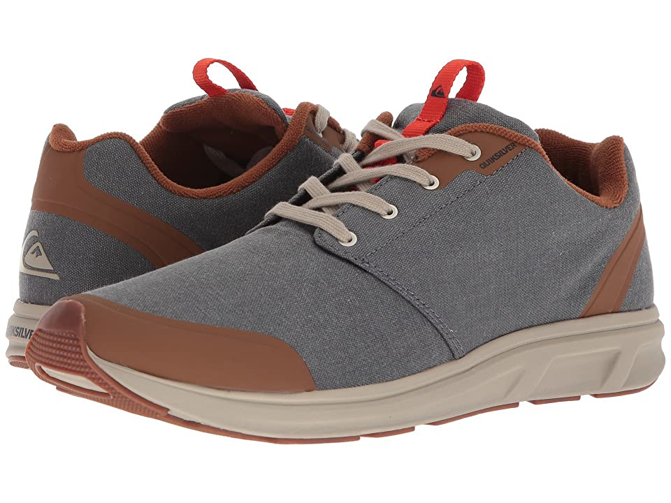Quiksilver Voyage Textile (Grey/Grey/Grey) Men's Skate Shoes, Gray