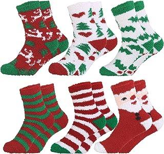 Calcetines de Navidad de 6 pares calcetines preciosos Calcetines de lana calcetines bordados calcetines para mujeres
