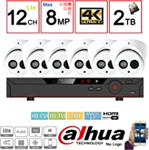 Dahua OEM Penta-brid 4K Security Package: 8CH 4K XVR7108-4K 5 in 1 (CVI TVI AHD IP and Analog) w/2TB Security Hard Drive+(6) 4MP Outdoor HDW1400 2.8MM Eyeball (NO LOGO OEM Local Support)