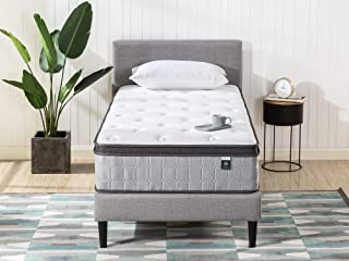 Zinus Support Plus iCoil Pocket Springs Single Mattress Euro top Bed - 33 cm Medium Plush Feel - High Density Foam Layer