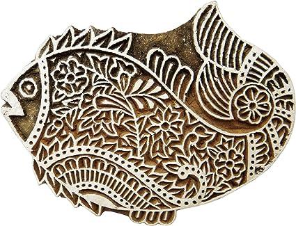 Wooden Block Printing Block Textile Printing Hand Block Design Craft Textile Fabric Clay art.