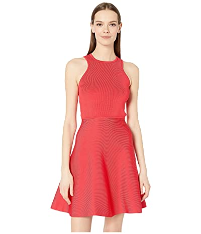 Cushnie Racer Cut Flare Knit Dress (Watermelon) Women