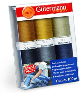 Gutermann Professional Jeans Denim Thread Set - 6 x 100M