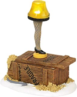 Department 56 Christmas Story Village Leg Lamp Lit Accessory Figurine, Multicolored