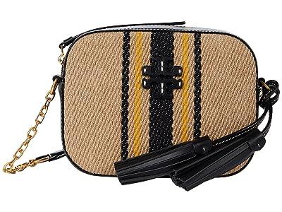 Tory Burch Mcgraw Linen Stripe Camera Bag