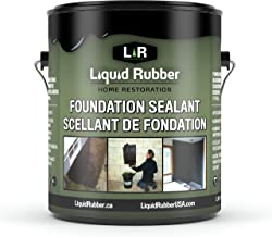 Liquid Rubber Foundation Sealant, Black 1 Gallon