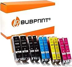 10 Bubprint Druckerpatronen kompatibel für Canon PGI-550 CLI-551 XL Pixma IP7200 IP7250 IX6850 MG5450 MG5550 MG5650 MG6450 MG6650 MX725 MX920 MX925