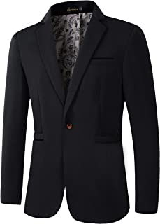 Men's Slim Fit Casual 1 Button Blazer Jacket Sport Coat