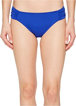 LAUREN Ralph Lauren - Beach Club Solids Shirred Side Tab Hipster Bottom