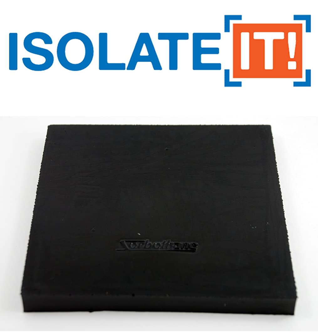 Isolate It!: Sorbothane Vibration Isolation Square Pad 1