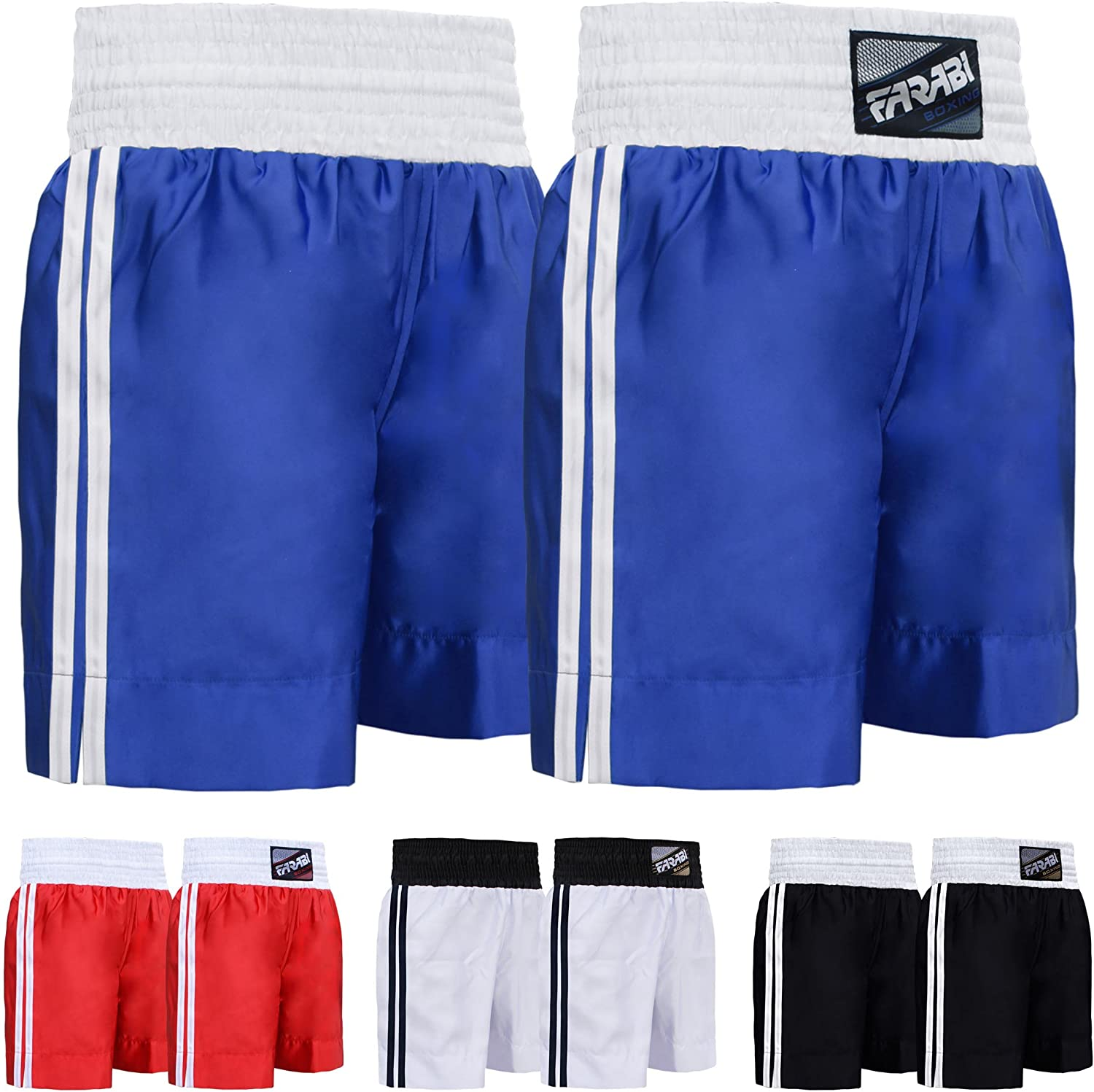 Farabi Sports Pro Boxing Shorts for Boxing Training Punching, Sparring Fitness Gym Kickboxing Equipment Trunks : Sports & Outdoors