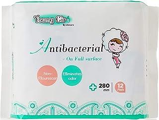 UUcare Young Girl Antibacterial Napkin 280mm, 12ct