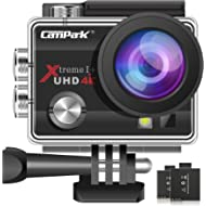 Campark ACT74 Action Camera 16MP 4K WiFi Underwater Photography Cameras 170 Degree Ultra Wide...