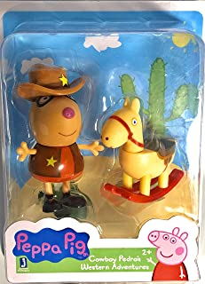 Peppa Pig Cowboy Pedro's Western Adventures Figure and Rocking Horse Accessory Gift Toy Easter Holiday