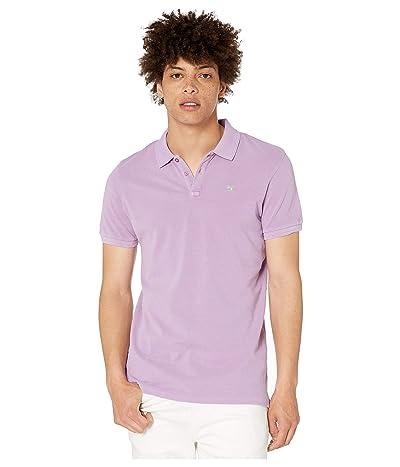 Scotch & Soda Classic Garment-Dyed Pique Polo (Purple Rock) Men