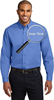Custom Embroidered Casual Button Downs - Long Sleeve Embroidery Button Up Shirts